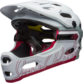 Bell Super 3R MIPS Joyride MTB Helmet Women matte white/cherry